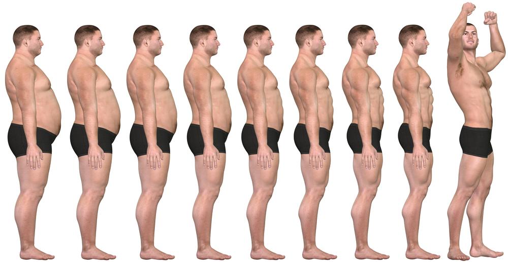 Bodybuilding transformation.