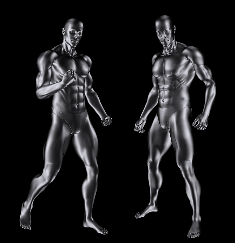 Bodybuilding's unalike identical twins.